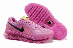 Nike Air Max 2014 - Rose Noir - Femme Chaussures Running Boutique France