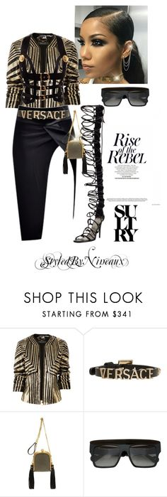 """Sultry Rebel"" by styledbynineaux ❤ liked on Polyvore featuring Gucci, Versace, Alexander McQueen and Anna-Karin Karlsson"