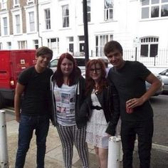 Liam and Lou with fans