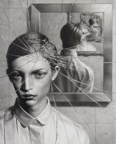 Cracked Portraits by Taisuke Mohri