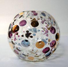 Currently my fav piece of glass in stock. Vintage 1960s Borske Sklo Union 'Nemo' Ball Vase