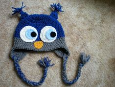 PATTERN: Owl hat any size newborn to adult easy crochet