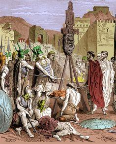 390 avant J.C., Brennus accepte de lever le siège de Rome en échange d'un tribut de mille livres d'or.