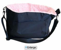 766d42e00d Pupper s Purse Dog Sling Carrier - Black Pink Princess Puppies