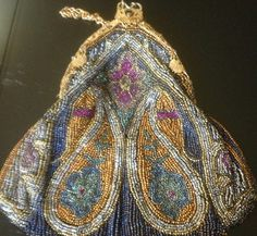 Antique Glass Beaded Purse | eBay