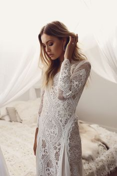 The iconic Inca gown by Grace Loves Lace.