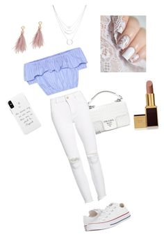 """💕"" by lizellevhxx ❤ liked on Polyvore featuring Miu Miu, DL1961 Premium Denim, Converse, Prada, Lizzie Fortunato and Tom Ford"