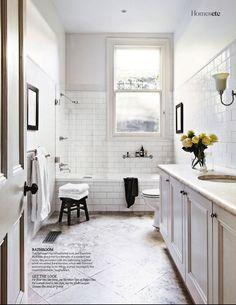 Love the tile. From Living Etc. #bathroom