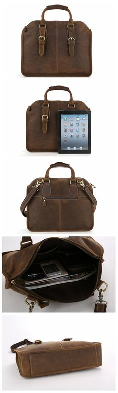 89e8561a0f14 Handcrafted Antique Leather Laptop Briefcase Mens Messenger Shoulder Bag  3857. MoshiLeatherBag - Handmade Leather Bag Manufacturer