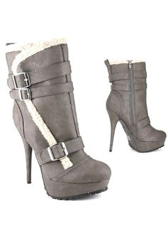 $51.60 Leatherette Shearling Buckle Boot 6.5 TAUPE -  http://www.amazon.com/dp/B005II5YBY/?tag=icypnt-20