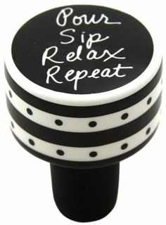 Enesco 4028115 Our Name Is Mud by Lorrie Veasey Pour Sip Relax Cork Bottle Stopper, 2-Inch by Enesco Gift. $8.00. Hand painted dolomite. Fun, funky, functional, feel good giftware. Beautifully gift boxed for easy gifting. Dishwasher safe. Artisan crafted by hand. A bold fresh and colorful collection by designer lorrie veasey featuring witty sentiments that make unique gifts. Our name is mud by lorrie veasey is a perfect marriage of art and functionality.