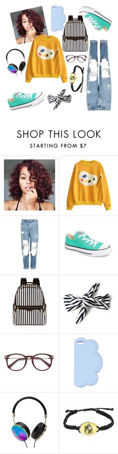 """Untitled #6"" by aylahxl ❤ liked on Polyvore featuring Topshop, Converse, Henri Bendel, STELLA McCARTNEY, Frontgate and Warner Bros."