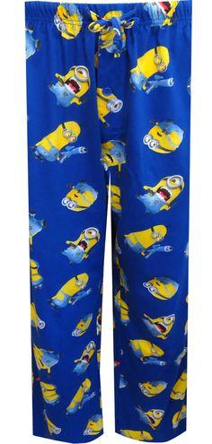 WebUndies.com Despicable Me 2 Minion Blue Lounge Pants