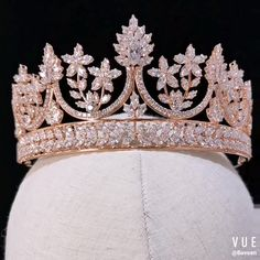 Royal Queen Rose Gold Tiaras Crowns for Brides Crystal Brides Hairbands Full Zircon Wedding Hair Accessories Royal Crowns, Tiaras And Crowns, Bridal Crown, Bridal Tiara, Quinceanera Tiaras, Rose Gold Quinceanera Dresses, Princess Jewelry, Princess Crowns, Royal Jewelry