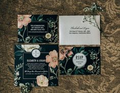 floral wedding invitation idea; photo: Joel Bedford.