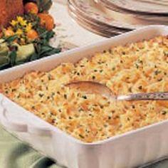 Cheesy Hash Potato Casserole Recipe -A friend gave this recipe to me and I've made it often. It's great when you need to feed a large gathering. Chicken Potato Casserole, Potato Hash, Chicken Potatoes, Cheesy Potatoes, Side Dish Recipes, Side Dishes, Main Dishes, Potato Dishes, Cooking Recipes