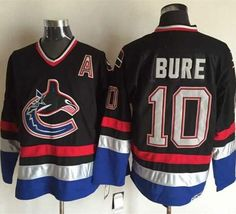 99fc3e7b00d Canucks  10 Pavel Bure Black Blue CCM Throwback Stitched NHL Jersey