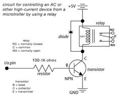 4 pin relay wiring diagram diagram microcontrolled ac switch