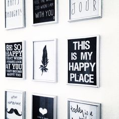 Wall decoration quotes black and white