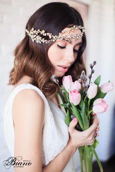 SALE Vintage Bridal Headband Wedding Swarovski headband by Bianoco