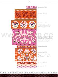 Knitting Charts, Knitting Stitches, Knitting Patterns, Intarsia Patterns, Stitch Patterns, Knit Mittens, Knitting Socks, Crochet Dollies, Fair Isle Knitting