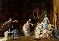 Charles Baugniet. Игра в жмурки.(1875) Blind Man's Buff by Charles Baugniet.