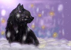 Cat in snow by RayCrystal.deviantart.com on @deviantART