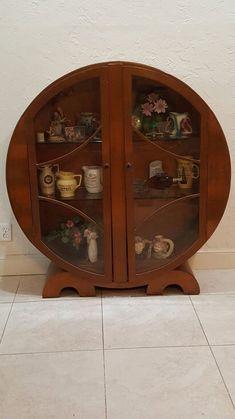 1930s Art Deco Curio Cabinet #ArtDeco