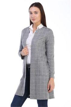 Kareli Uzun Ceket