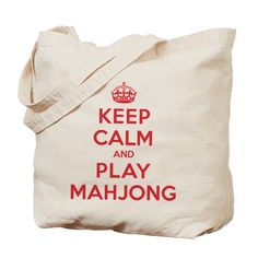 A parody on the traditional British wartime poster, this Keep Calm Play Mahjong design is perfect for anyone who loves to play Mahjong