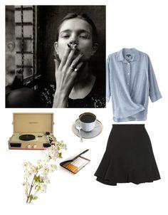 """La matin au Café de Flore."" by lili-rose17 ❤ liked on Polyvore featuring Victoria Beckham, Steven Alan, Crosley and OKA"