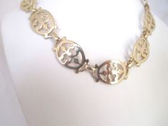 """Vintage Necklace Gold Plated Chain Links MARINO 15"""" Length  Pre-1955  #Marino #ChainLink"""