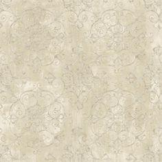 8 in. x 10 in. Aubrey Beige Crystal Medallion Texture Wallpaper Sample, Yellow