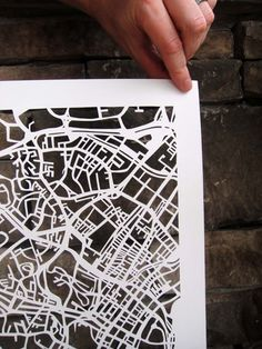 papercut map: would be lovely framed over wrapping paper or scrapbook paper. OR over a blown up image of your home. Map Wrapping Paper, Singapore Map, Paper Art, Paper Crafts, Map Quilt, Map Design, Design Ideas, Arts Ed, Paper Cutting