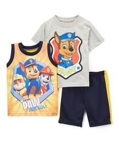 Another great find on #zulily! PAW Patrol Gray Nick Tee Set - Toddler #zulilyfinds