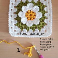 Embroidery for Beginners & Embroidery Stitches & Embroidery Patterns & Embroidery Funny & Machine Embroidery Crochet Butterfly Free Pattern, Crochet Motif Patterns, Crochet Triangle, Granny Square Crochet Pattern, Crochet Diagram, Crochet Squares, Crochet Stitches, Knit Crochet, Crochet Flower Scarf
