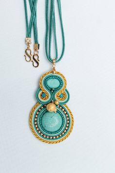 Soutache Turquoise Pendant. @Lady Cioffa Gutiérrez