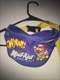 Vintage 80's Kool Aid Man Nylon Fanny Waist Pack by RackRaidersVtg on Etsy