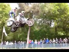 Flying dirt bikes w sidecars