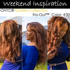 #ONYCHair #WeekendInspiration is this #ONYCBeauty owning her Colored Fro-Out #hair from #ONYC Golden Collection.    What's your color?   Shop US Now >>> ONYCHair.com Shop UK Now >>> ONYCHair.uk Shop NG Now>>> ONYCHair.ng