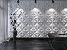 Gesso 3D, novidade em revestimento de paredes com painéis de placas de gesso 3D para arquitetura e decoração de interiores com ótimo acabamento e custo baixo.