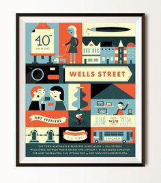 2014 Wells Street Art Festival Poster on Behance