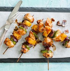 Take a trip to the islands with these sweet and savory skewers. Turkey tenderloins are easy to cut and quick to cook, making them perfect for mid-week meals.