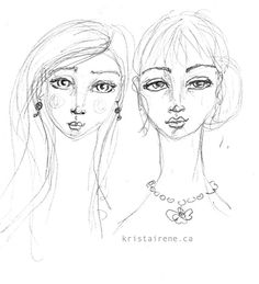 """""""Friends"""" drawing by Krista Irene Tannahill"""