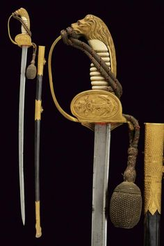 """[#Claudio4]. IMPERIAL NAVY OFFICER'S SABRE FROM THE PROPERTY OF THE U-BOOT COMMANDER KURT TEBBENJOHANNS. Kurt Tebbenjohanns, born on 20.11.1885, took service on 1.4.1905 as a cadet of the imperial navy. Sub-lieutenant on 7.4.1906 and lieutenant on 28.9.1908. Commanded as """"Kapitänleutnant"""" the submarine UC44 from 4.11.1916 to 4.8.1917 and sank 30 ships totaling 26.488 tons. Imperial Crown, Wire Binding, Cold Steel, Rare Antique, Floral Motif, Swords, Damask, Brass, Navy"""
