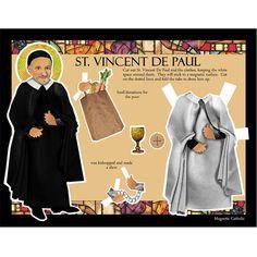 SALE St Vincent De Paul Apostle of Charity Catholic saint magnetic paper doll