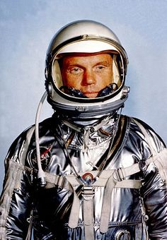 Astronaut, John Glenn (Cambridge, OH) - First man to orbit the Earth, later became a US Senator