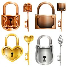Lock Key Tattoos, Pattern Design Drawing, Emoji Photo, Geometric Shapes Art, Shape Art, Vintage Keys, Different Shapes, Designs To Draw, Game Design
