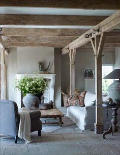 Modern Country Style: Belgian Style Living Room Click through for details. Living Room Decor, Living Spaces, Living Rooms, Family Rooms, Modern Country Style, Country Chic, European Style, Country Decor, Belgian Style
