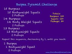 Pyramid Burpee challenge